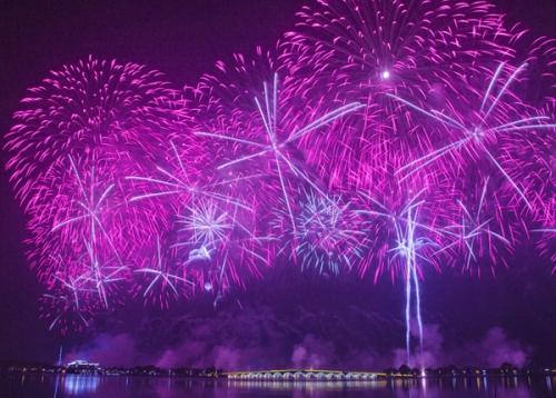 常熟旅游节开幕式烟花晚会